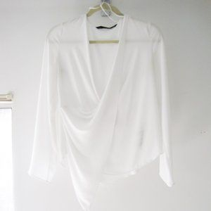 Zara Drapey Long Sleeve Top XS